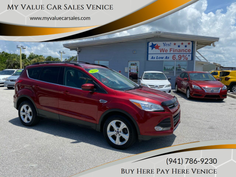 2014 Ford Escape for sale at My Value Car Sales - Upcoming Cars in Venice FL