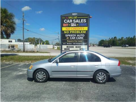 2002 Honda Civic for sale at My Value Car Sales in Venice FL