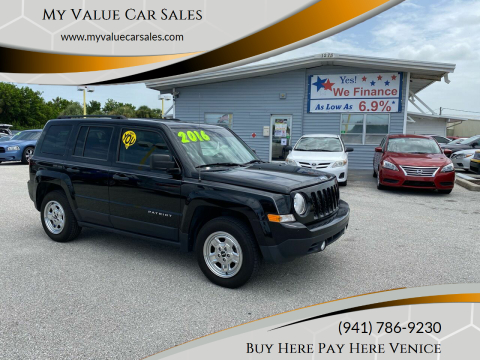 2016 Jeep Patriot for sale at My Value Car Sales - Upcoming Cars in Venice FL
