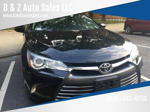 2016 Toyota Camry LE for sale at B & Z Auto Sales LLC in Delran NJ
