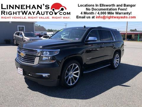 Best Value Used Suv >> 2015 Chevrolet Tahoe For Sale In Bangor Me