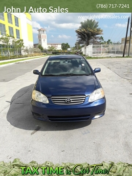 Toyota Dealership Fort Lauderdale >> Used 2004 Toyota Corolla For Sale In Fort Lauderdale Fl