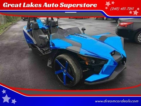 2016 Polaris Slingshot Titanium Metallic for sale at Great Lakes Auto Superstore in Pontiac MI
