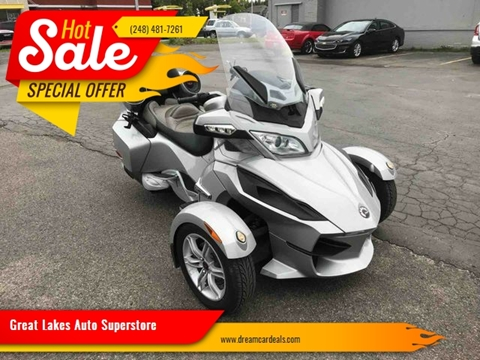 2010 Can-Am Spyder RT for sale at Great Lakes Auto Superstore in Pontiac MI