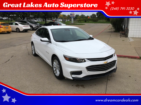 2016 Chevrolet Malibu for sale at Great Lakes Auto Superstore 2 in Waterford MI