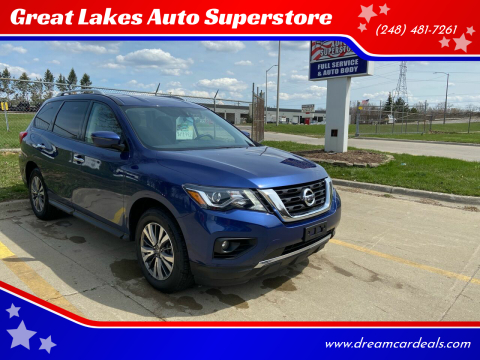 2018 Nissan Pathfinder for sale at Great Lakes Auto Superstore in Pontiac MI