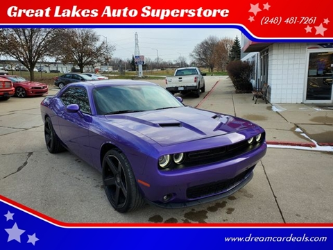 2018 Dodge Challenger for sale at Great Lakes Auto Superstore in Pontiac MI