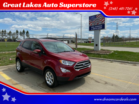 2018 Ford EcoSport for sale at Great Lakes Auto Superstore in Pontiac MI