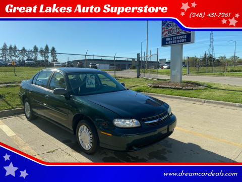 2003 Chevrolet Malibu for sale at Great Lakes Auto Superstore in Pontiac MI