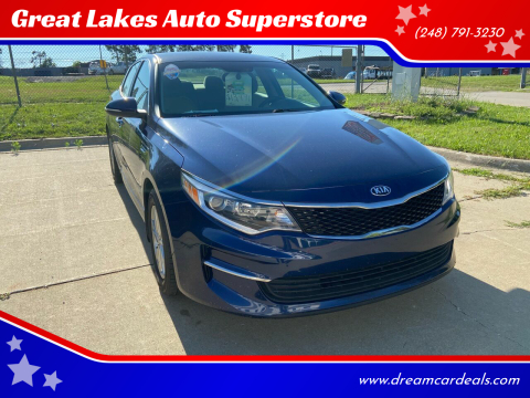 2017 Kia Optima for sale at Great Lakes Auto Superstore 2 in Waterford MI