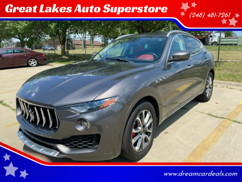 2017 Maserati Levante for sale at Great Lakes Auto Superstore in Pontiac MI