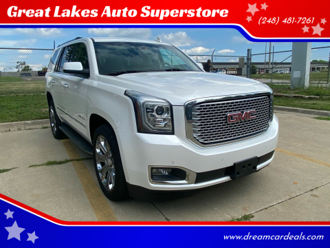 2016 GMC Yukon for sale at Great Lakes Auto Superstore in Pontiac MI