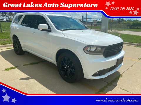 2017 Dodge Durango for sale at Great Lakes Auto Superstore 2 in Waterford MI