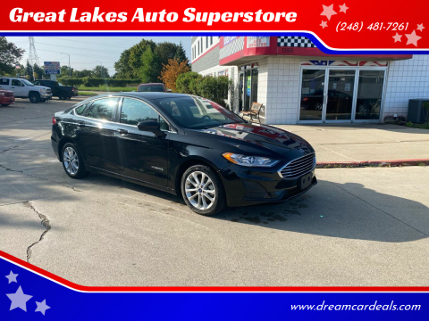 2019 Ford Fusion Hybrid for sale at Great Lakes Auto Superstore in Pontiac MI