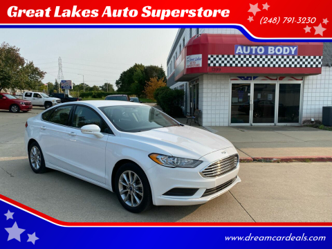 2017 Ford Fusion for sale at Great Lakes Auto Superstore 2 in Waterford MI