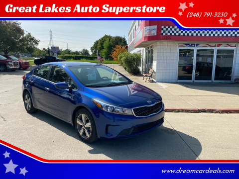 2018 Kia Forte for sale at Great Lakes Auto Superstore 2 in Waterford MI