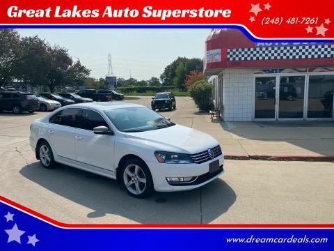 2013 Volkswagen Passat for sale at Great Lakes Auto Superstore in Pontiac MI