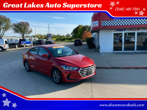 2018 Hyundai Elantra for sale at Great Lakes Auto Superstore in Pontiac MI