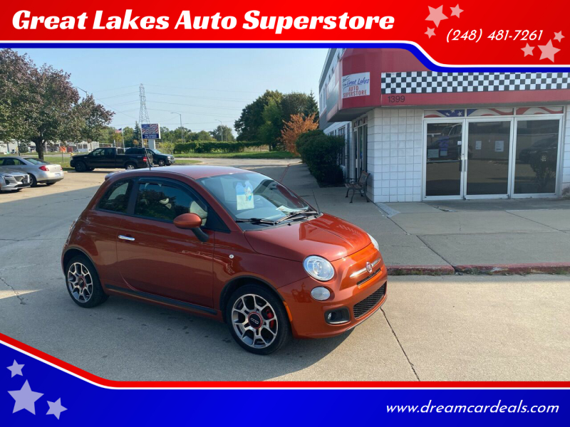2012 FIAT 500 for sale at Great Lakes Auto Superstore in Pontiac MI