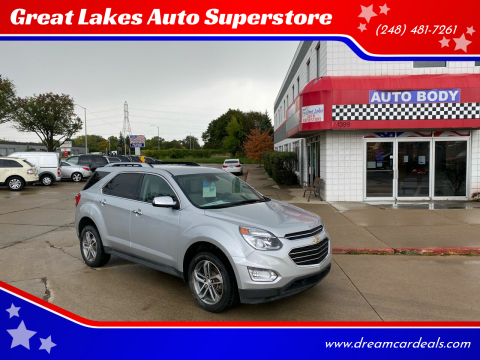 2017 Chevrolet Equinox for sale at Great Lakes Auto Superstore in Pontiac MI