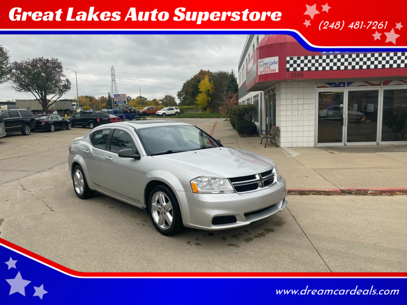 2012 Dodge Avenger for sale at Great Lakes Auto Superstore in Pontiac MI