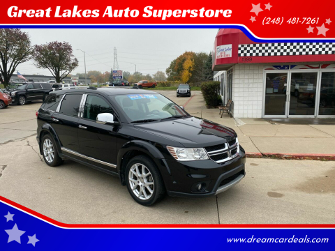 2013 Dodge Journey for sale at Great Lakes Auto Superstore in Pontiac MI