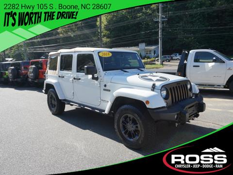 2018 Jeep Wrangler Unlimited for sale in Boone, NC