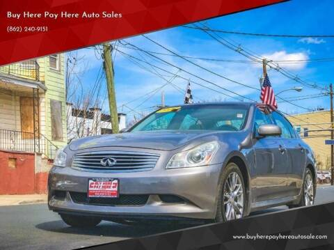 2008 Infiniti G35 for sale at Buy Here Pay Here Auto Sales in Newark NJ