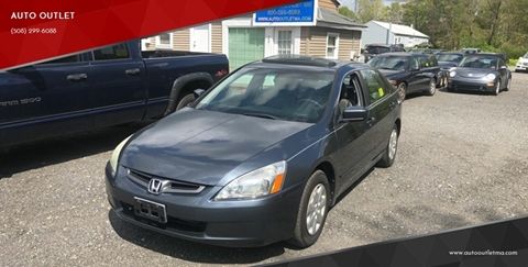 2004 Honda Accord for sale at AUTO OUTLET in Taunton MA