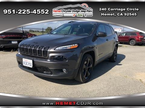 2018 Jeep Cherokee for sale in Hemet, CA
