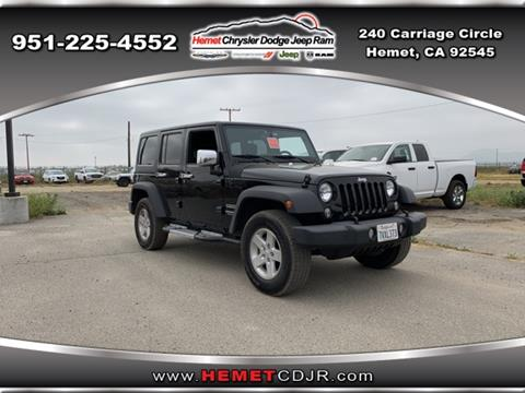 2017 Jeep Wrangler Unlimited for sale in Hemet, CA