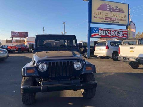 1997 Jeep Wrangler for sale in Reno, NV