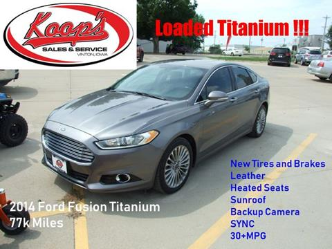 2014 Ford Fusion Tires >> 2014 Ford Fusion For Sale In Vinton Ia