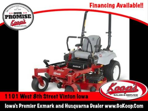 Exmark Radius E-Series 52'' for sale at Koop's Sales and Service in Vinton IA