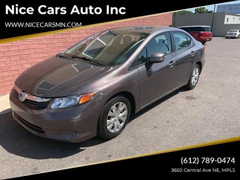 Used Cars Minneapolis >> 2012 Honda Civic For Sale In Minneapolis Mn