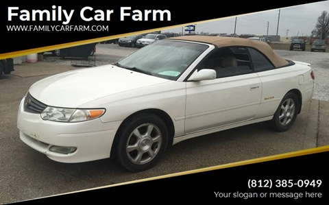 2002 Toyota Camry Solara for sale at Family Car Farm in Princeton IN