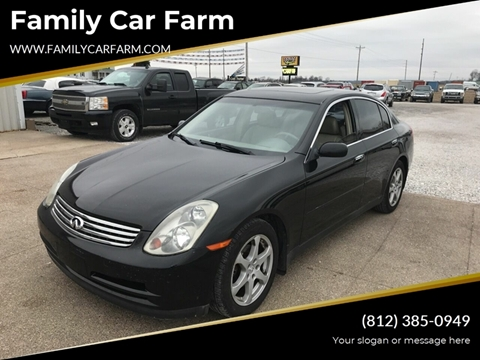2004 Infiniti G35 for sale at Family Car Farm in Princeton IN