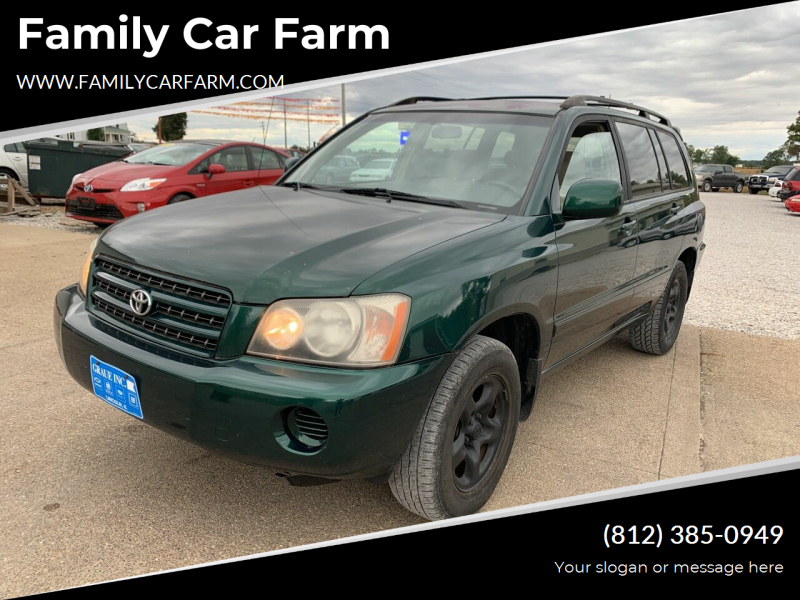 2001 Toyota Highlander for sale at Family Car Farm in Princeton IN