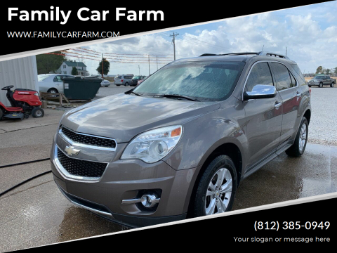 2011 Chevrolet Equinox for sale at Family Car Farm in Princeton IN
