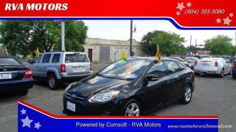 2013 Ford Focus for sale at RVA MOTORS in Richmond VA