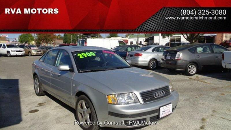 2004 Audi A6 for sale at RVA MOTORS in Richmond VA