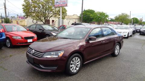 2014 Volkswagen Passat 1.8T Wolfsburg Edition PZEV for sale at RVA MOTORS in Richmond VA