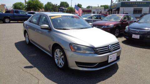 2013 Volkswagen Passat SE for sale at RVA MOTORS in Richmond VA