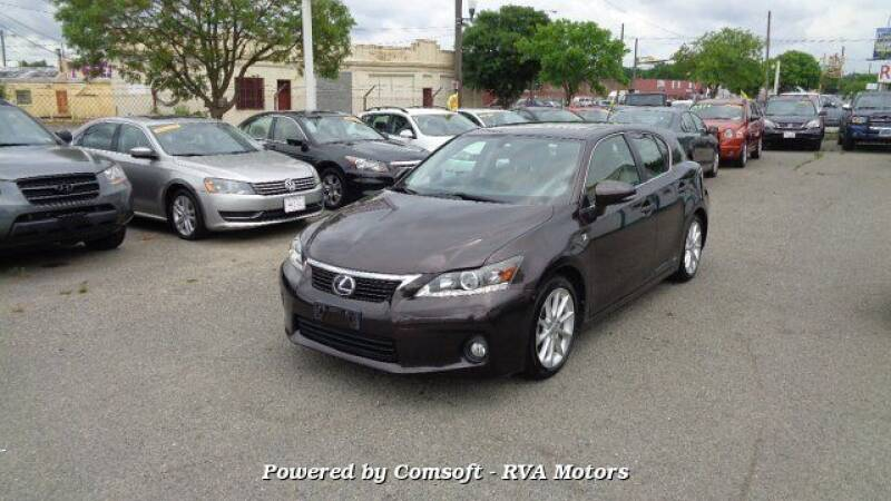 2013 Lexus CT 200h for sale at RVA MOTORS in Richmond VA