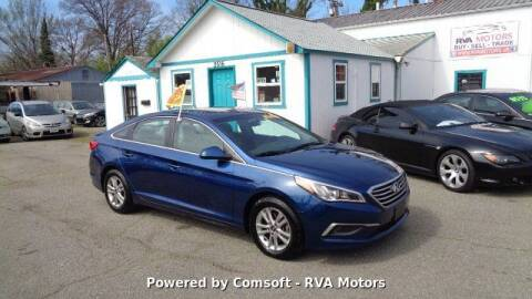 2017 Hyundai Sonata for sale at RVA MOTORS in Richmond VA