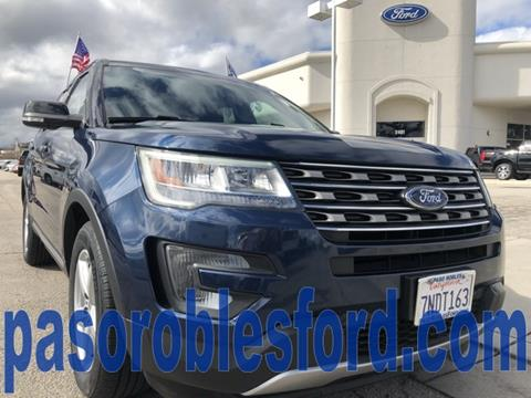 Paso Robles Ford >> 2016 Ford Explorer For Sale In Paso Robles Ca