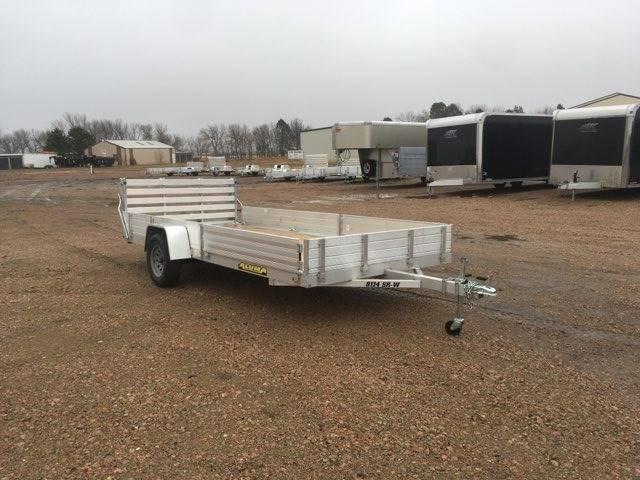 2021 Aluma 8114 SR-W Aluminum Utility for sale at Prairie Wind Trailers, LLC in Harrisburg SD