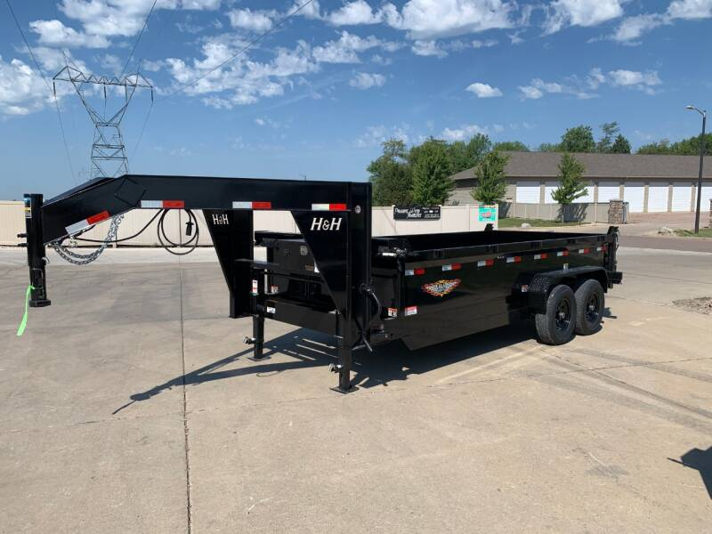 2021 H&H DBW-16 GN Dump Box #1572 for sale at Prairie Wind Trailers, LLC in Harrisburg SD