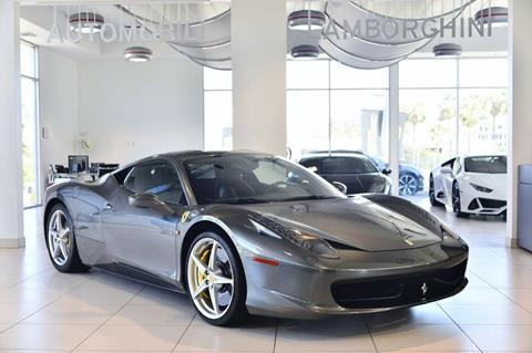 Ferrari Dealership Nc >> 2013 Ferrari 458 Italia For Sale In Calabasas Ca
