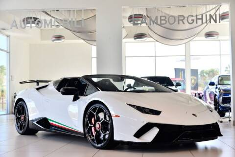 2019 Lamborghini Huracan LP 640-4 Performante Spyder for sale at Lamborghini North Los Angeles in Calabasas CA